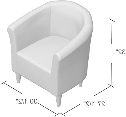 Preferred Zipcode Design Liam Barrel Chair, Living Room Chair (graphite) For Ziaa Armchairs (set Of 2) (View 15 of 30)