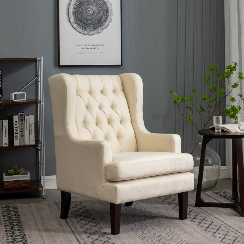 Priyah Wingback Chair Pertaining To Latest Nestor Wingback Chairs (View 28 of 30)