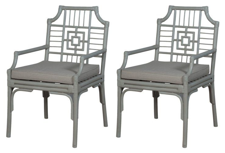 Ragsdale Armchairs With Well Known Manor Rattan Armchair, Pair (View 23 of 30)