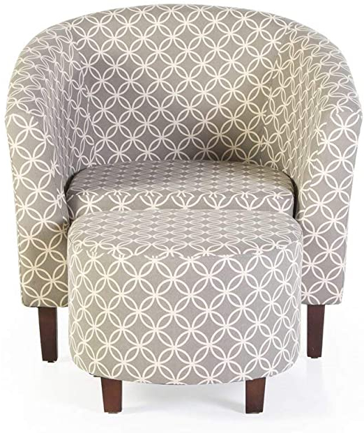 Recent Amazon: Brames Barrel Chair And Ottoman: Home & Kitchen For Brames Barrel Chair And Ottoman Sets (View 5 of 30)