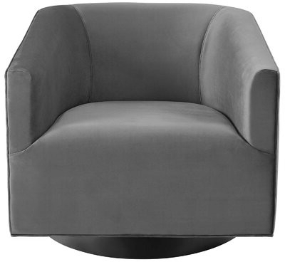 Recent Blaithin Simple Single Barrel Chairs Inside Estabrook Swivel Armchair Upholstery Color: Gray (View 12 of 30)