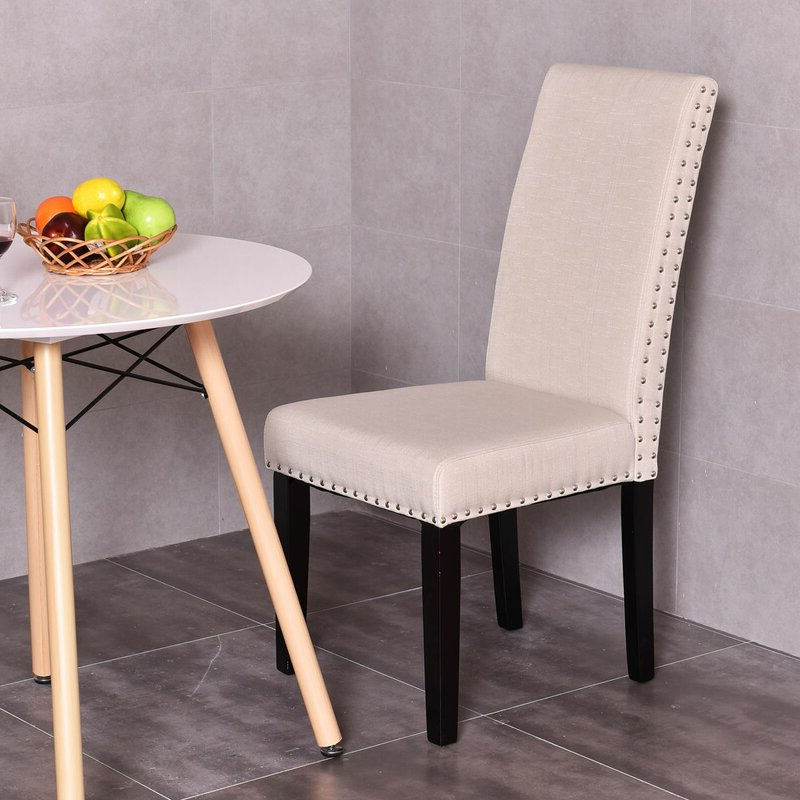 Recent Bob Stripe Upholstered Dining Chairs (set Of 2) In Regil Upholstered Dining Chair (View 5 of 30)