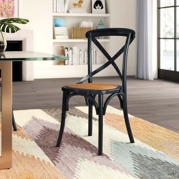 Recent Dorcaster Barrel Chairs Regarding Doncaster Crossback Solid Wood Dining Chair (View 13 of 30)
