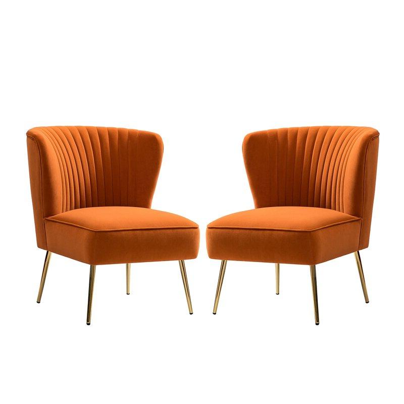 Recent Erasmus Velvet Side Chairs (set Of 2) Inside Erasmus Side Chair (View 4 of 30)
