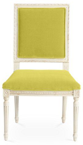 Recent Exeter Side Chairs Within Exeter Side Chair, Chartreuse Velvet $1, (View 12 of 30)