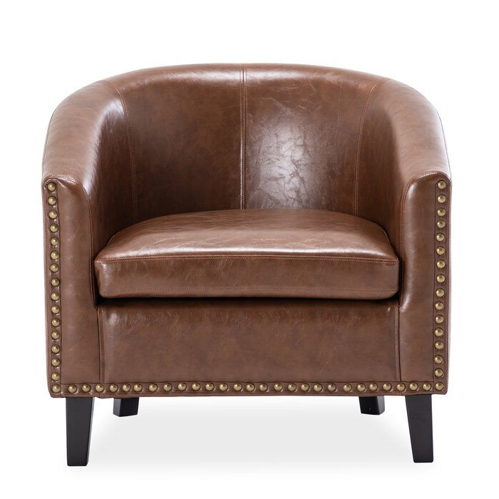 Recent Liam Faux Leather Barrel Chairs Intended For Hiliritas Barrel Chair In (View 18 of 30)