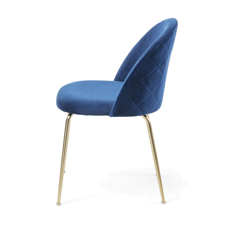 Recent Loftus Velvet Fabric Dining Chair, Navy / Gold Throughout Loftus Swivel Armchairs (View 17 of 30)