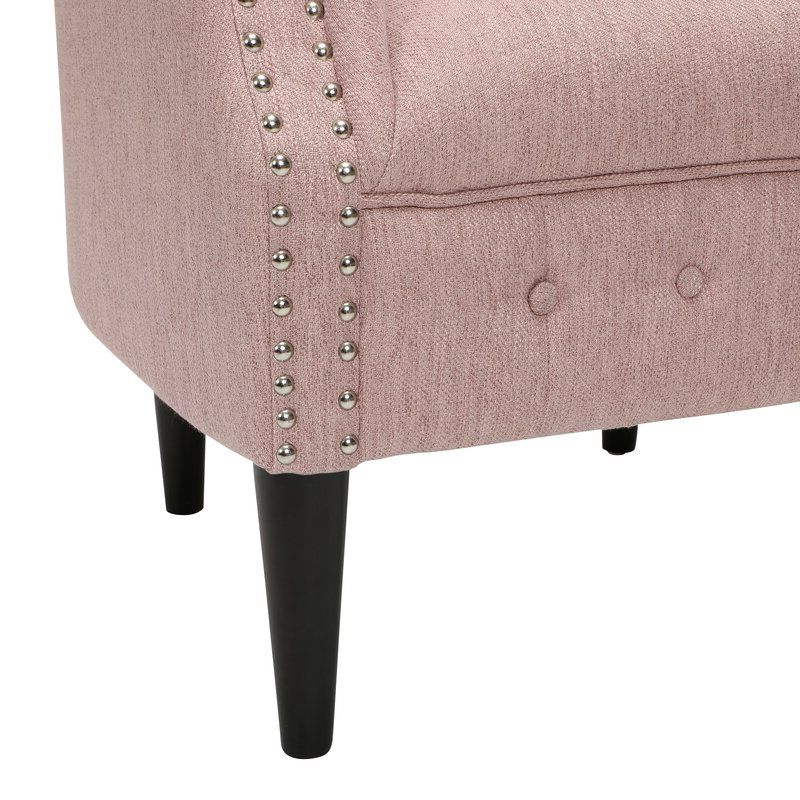 Recent Starks Tufted Fabric Chesterfield Chair And Ottoman In 2020 Intended For Starks Tufted Fabric Chesterfield Chair And Ottoman Sets (View 3 of 30)