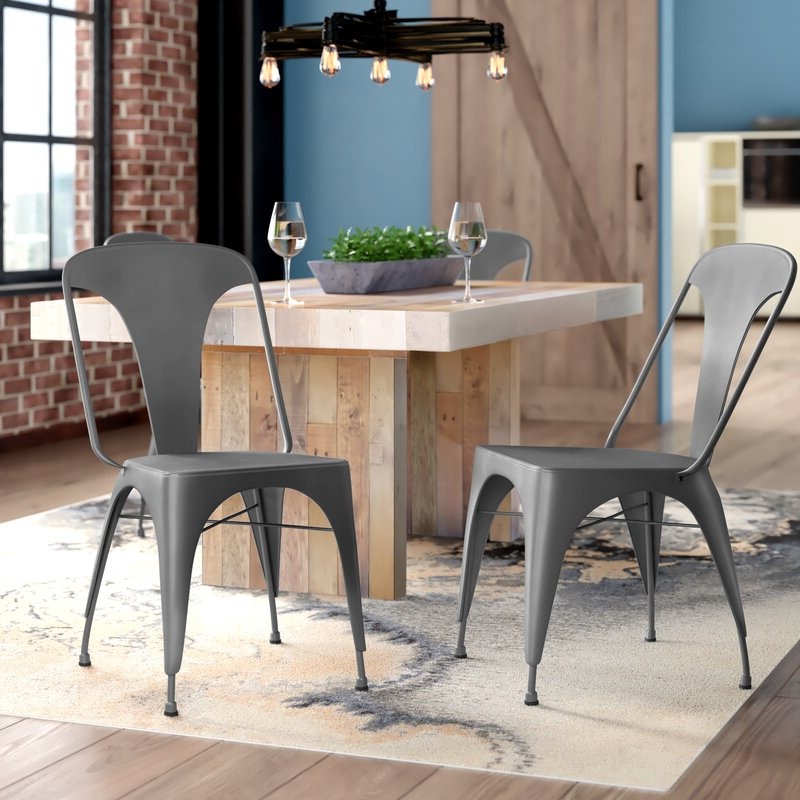Recent Trent Side Chairs With Regard To Marie Metal Side Chair (View 7 of 30)