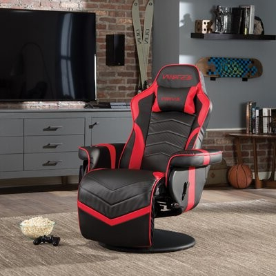 Recliner Racing Game Chair Color: Red/black Pertaining To Most Recently Released Blaithin Simple Single Barrel Chairs (View 19 of 30)