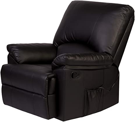Reynolds Armchairs In Newest Relaxzen Reynolds Massage Recliner, Black (View 18 of 30)