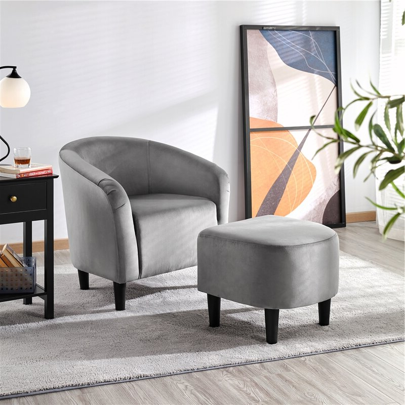 Featured Photo of Riverside Drive Barrel Chair And Ottoman Sets