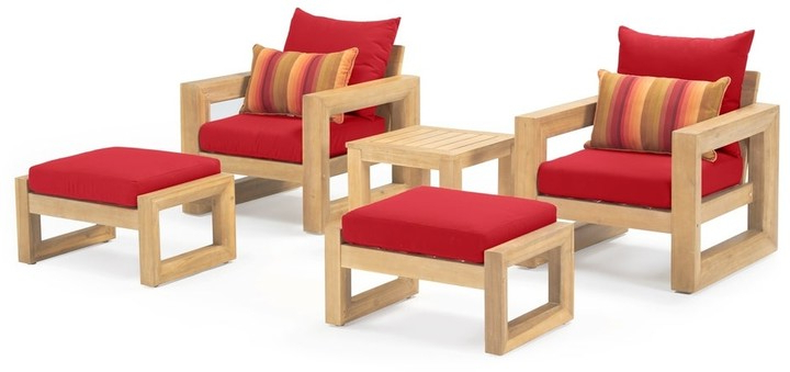 Riverside Drive Barrel Chair And Ottoman Sets With 2020 Benson 5pc Club Chair & Ottoman Set In Sunset Red (View 20 of 30)