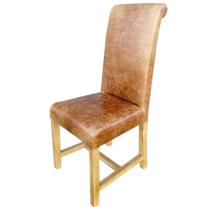 Rollback Dining Chair Windermere In Leather In Well Liked Carlton Wood Leg Upholstered Dining Chairs (View 22 of 30)