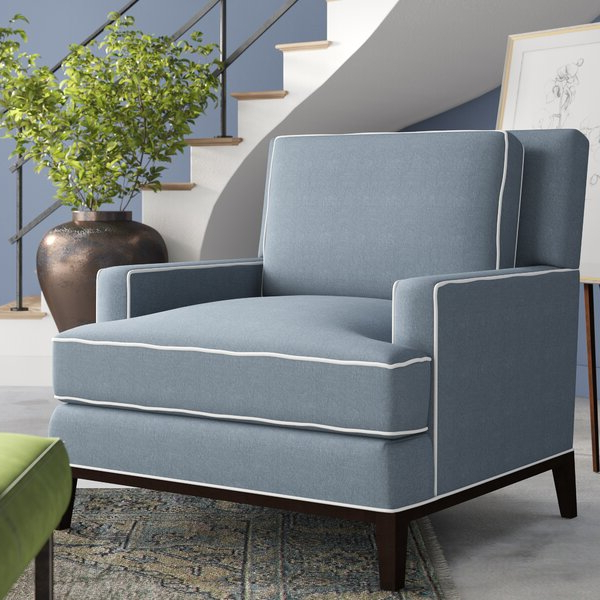 """Ronald Polyester Blend Armchairs Throughout 2019 Andrews 39"""" W Polyester Blend Down Cushion Armchair (View 11 of 30)"""
