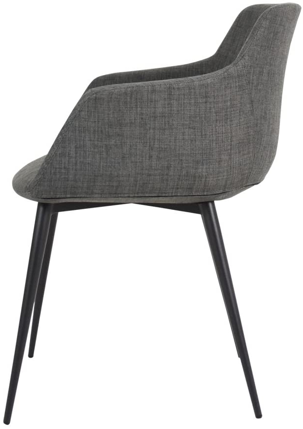 Ronda Barrel Chairs With Regard To Newest Amazon: Moe's Home Collection Ronda Arm Chair, Dark Gray (View 9 of 30)