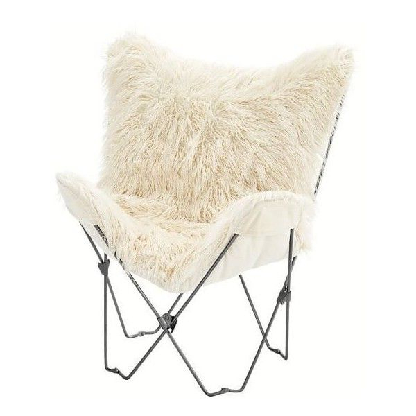 Rosati Mongolian Fur Papasan Chairs With Regard To 2020 Furlicious Faux Fur Butterfly Chair ❤ Liked On Polyvore (View 12 of 30)