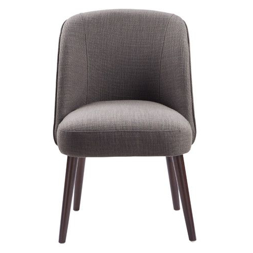 Round Back Dining Chairs Throughout Madison Avenue Tufted Cotton Upholstered Dining Chairs (set Of 2) (View 21 of 30)