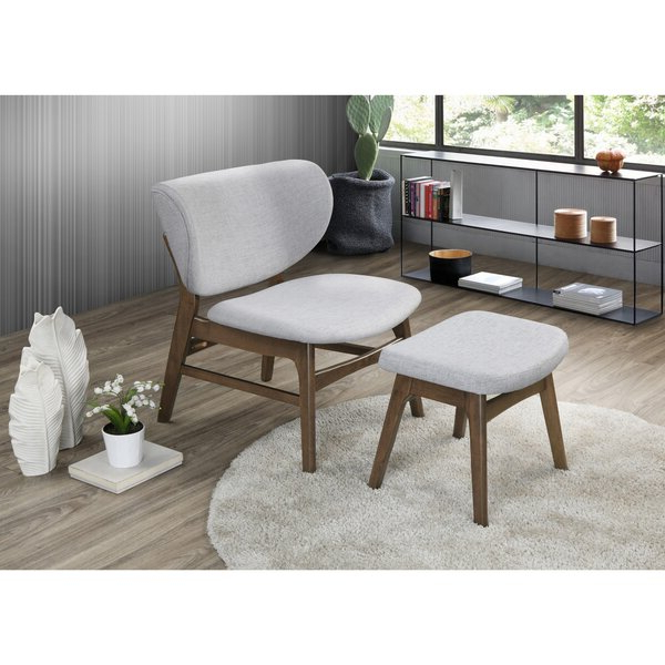 """Roundtree 22"""" Lounge Chair And Ottoman For Trendy Hallsville Performance Velvet Armchairs And Ottoman (View 23 of 30)"""