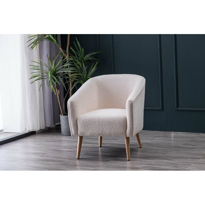 Schooley Faux Shearling Barrel Chair With Regard To Most Up To Date Danow Polyester Barrel Chairs (View 9 of 30)