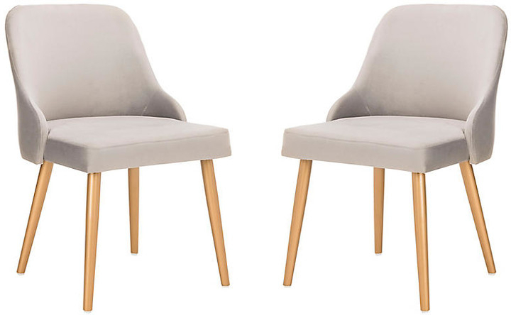 Set Of 2 Andover Side Chairs – Gray Velvet Throughout Widely Used Erasmus Velvet Side Chairs (set Of 2) (View 20 of 30)