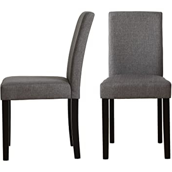 Set Of 2 Modern Fabric Upholstered Dining Chairs Elegant Design Dining Room Chairs (gray Set Of 2) In Most Current Bob Stripe Upholstered Dining Chairs (set Of 2) (View 15 of 30)