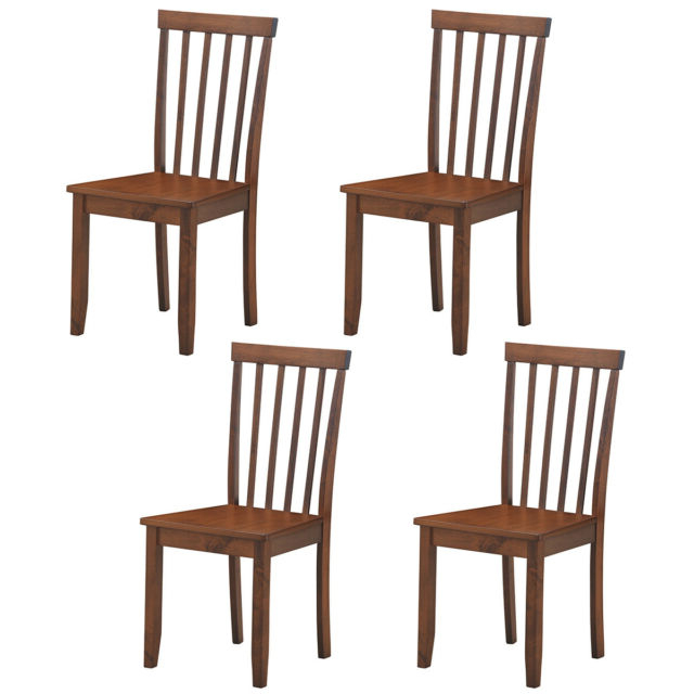 Set Of 4 Dining Chairs Kitchen Spindle Back Side Chair W/solid Wooden Legs Home With Regard To Most Recently Released Trent Side Chairs (View 21 of 30)