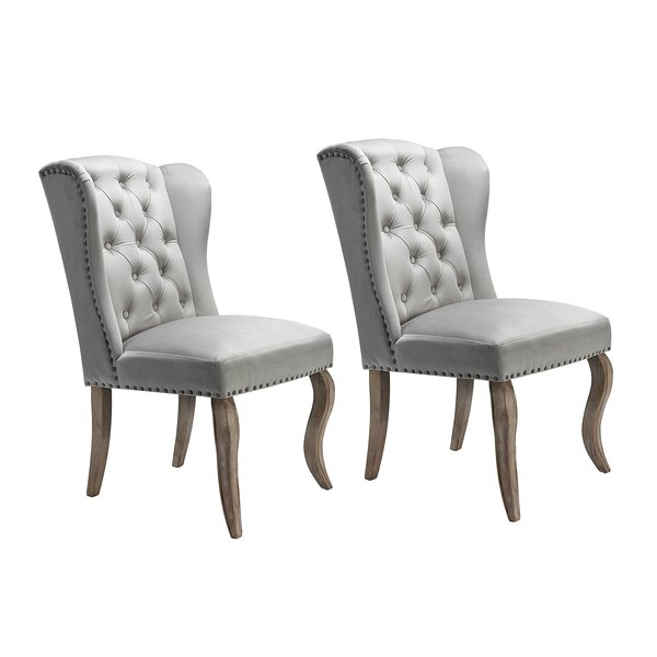 Set Of Two Accent Chairs Throughout Most Current Alush Accent Slipper Chairs (set Of 2) (View 5 of 30)