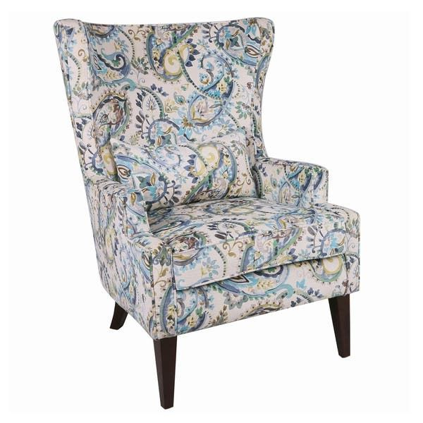 Shop Clementine Wingback Arm Chair – Overstock – 26235127 Regarding Well Known Waterton Wingback Chairs (View 25 of 30)