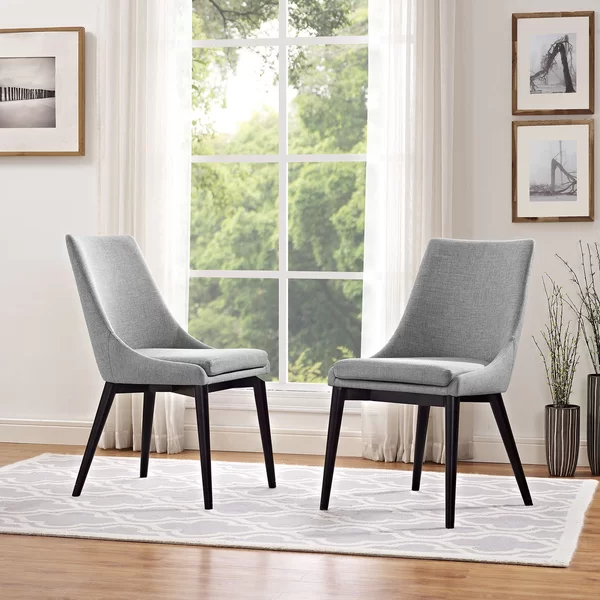 Side Chairs Within Most Current Carlton Wood Leg Upholstered Dining Chairs (View 10 of 30)