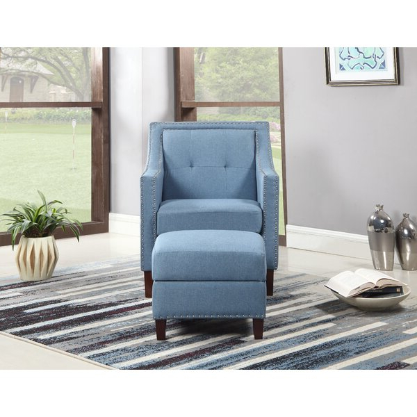 Sonya Armchair Ottoman Within Best And Newest Dara Armchairs (View 8 of 30)