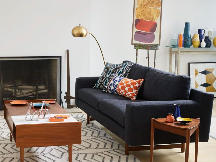 Starks Tufted Fabric Chesterfield Chair And Ottoman Sets Within Best And Newest The 12 Best Places To Shop For Mid Century Modern Sofas In (View 12 of 30)