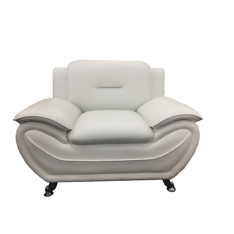 "Stclair 48"" W Faux Leather Club Chair Pertaining To Fashionable Montenegro Faux Leather Club Chairs (View 9 of 30)"