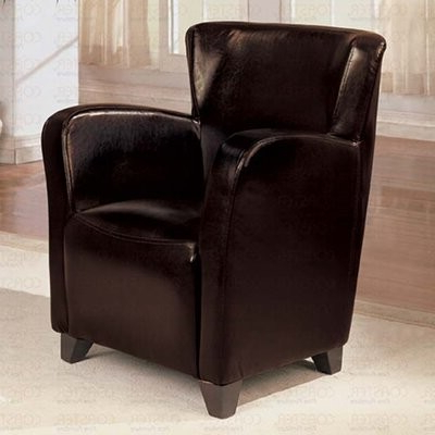 Suisan Wingback Chair Fabric: Faux Leather Brown For Most Up To Date Gallin Wingback Chairs (View 26 of 30)