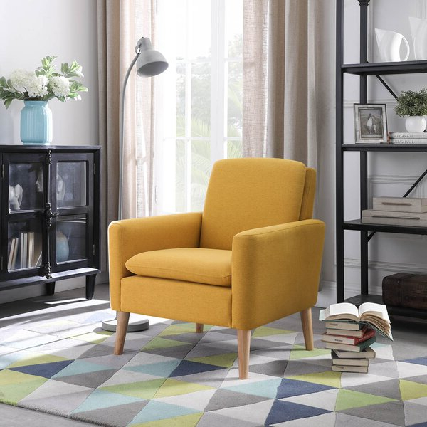 Suki Armchairs By Canora Grey Throughout Widely Used Upholstered Armchair (View 3 of 30)