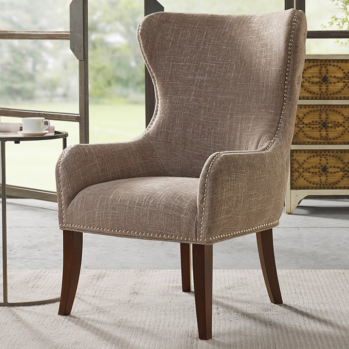 Sweetwater Wingback Chairs With Regard To Preferred Geoffrey Button – Tufted Back Accent Chair – Camel (View 15 of 30)