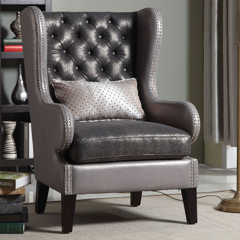 "Sweetwater Wingback Chairs With Widely Used Roche 31"" W Tufted Wingback Chair (View 6 of 30)"