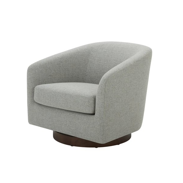Swivel Barrel Chair Intended For Well Known Liam Faux Leather Barrel Chairs (View 28 of 30)