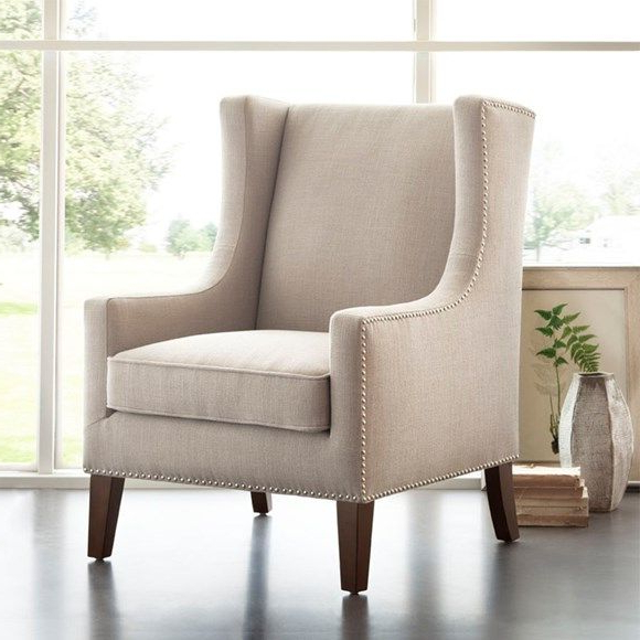 This Is The Same Chair Barton Wing Chair, In A Different Regarding Favorite Galesville Tufted Polyester Wingback Chairs (View 14 of 30)
