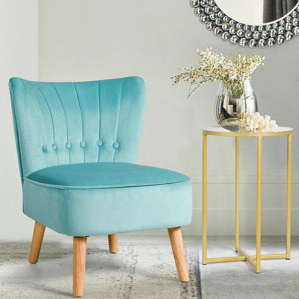 Tisdale Slipper Chair For 2019 Easterling Velvet Slipper Chairs (View 8 of 30)