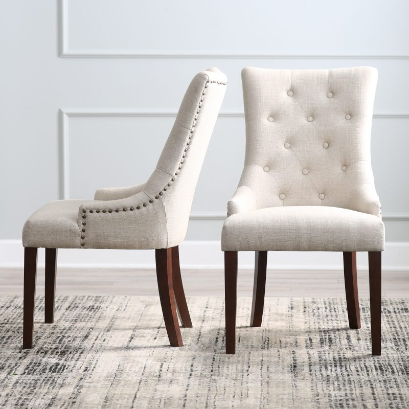 Top 10 Upholstered Dining Chairs – Hayneedle Throughout Most Recent Carlton Wood Leg Upholstered Dining Chairs (View 20 of 30)
