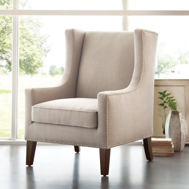 Trendy Chagnon Wingback Chair Regarding Chagnon Wingback Chairs (View 2 of 30)
