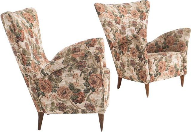 Trendy Customizable Italian Armchairs, 1950s, Set Of 2 Inside Georgina Armchairs (set Of 2) (View 17 of 30)