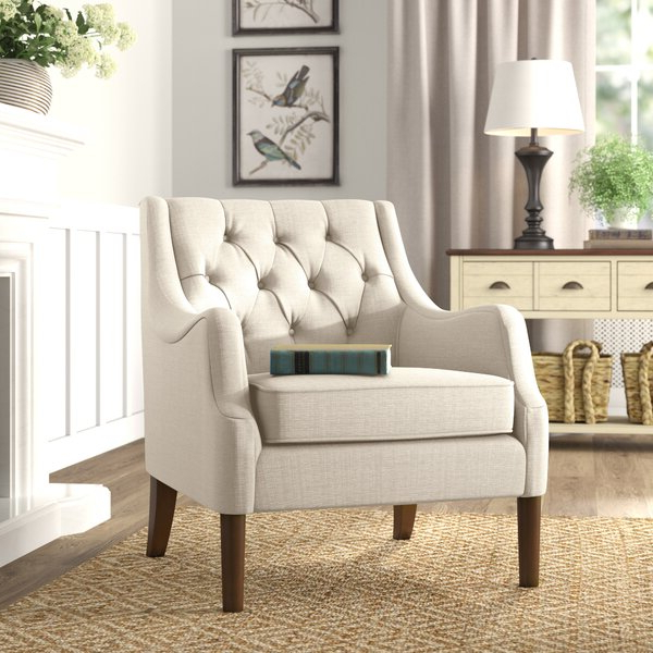 Trendy Gallin Wingback Chairs Within Evelyn Tufted Wingback Chairs (View 15 of 30)