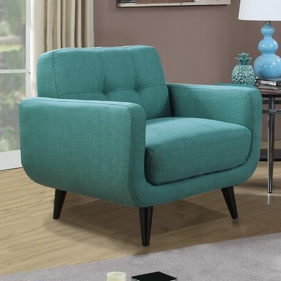 Trendy Higbee Armchair Fabric: Teal Polyester Blend Within Ronald Polyester Blend Armchairs (View 20 of 30)