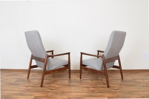 Trendy Mid Century Polish Lounge Chairsedmund Homa For Gościcińskie Fabryki Mebli, 1960s, Set Of 2 Intended For Esmund Side Chairs (set Of 2) (View 18 of 30)