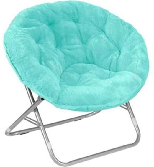 Trendy Renay Papasan Chairs Throughout Mainstay Saucer Chair, Wind Aqua In (View 7 of 30)