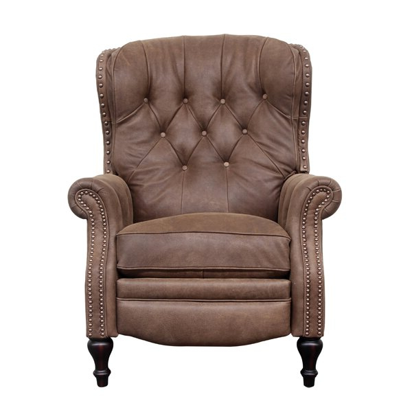 Trendy Wing Back Recliner Chairs Within Coomer Faux Leather Barrel Chairs (View 13 of 30)