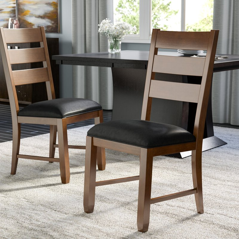 Trent Side Chairs Regarding Best And Newest Caracara Ladderback Upholstered Side Chair (View 11 of 30)