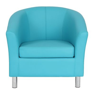 Tritium Next Day Leather Tub Chairs – Chrome Feet For Popular Jill Faux Leather Armchairs (View 24 of 30)